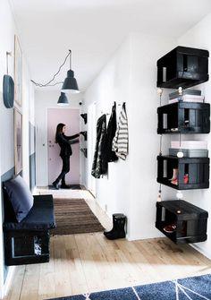 Ideas diy furniture small spaces extra storage - New ideas Modul Sofa, Diy Home Decor, Room Decor, Small Hallways, Furniture For Small Spaces, Deco Design, Halls, Home Organization, Home And Living