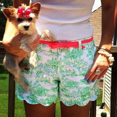 lilly pulitzer. They shorts are a bit too long for my boyfriends taste