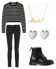 """""""EXO - Love Me Right (Lay inspired outfit)"""" by lucky-unicorn ❤ liked on Polyvore featuring rag & bone, TIBI, Dr. Martens, Minnie Grace, Links of London, women's clothing, women, female, woman and misses"""