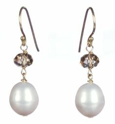 Gold Plated Silver Rice Shape White Freshwater Cultured Pearl and Swarovski Elements Briolette Drop Earrings Amazon Curated Collection. $32.00. Gemstones may have been treated to improve their appearance or durability and may require special care. Save 24%!