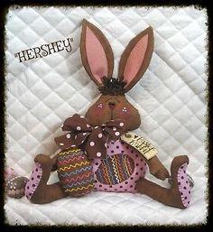 Primitive Chocolate Bunny~