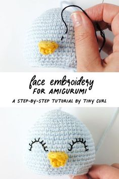 Face embroidery for your amigurumi dolls is a great way to give them lots of personality. Nothing beats the cuteness of a uniquely embroidered face. This tutorial teaches you the best method for amigurumi face embroidery. #amigurumi #crochet #amigurumitoy Crochet Animal Amigurumi, Amigurumi Patterns, Amigurumi Doll, Crochet Dolls, Crochet Clothes, Crochet Ideas, Crochet Stuffed Animals, Love Crochet, Ganchillo