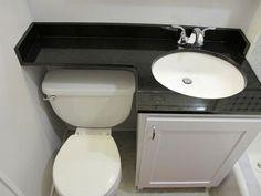 Small Bathroom Ideas On A Budget, Small Sink, Small Vanity, Small Bathroom Vanities, Tiny Bathrooms, Small Bathroom Storage, Upstairs Bathrooms, Downstairs Bathroom, Bathroom Design Small