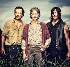 Rick,Carol y Daryl..