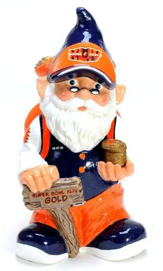 New Orleans Saints Garden Gnome - Coin Bank - Super Bowl 44 Champ