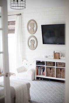 Playroom with Stikwood featurewall in Hamptons Shiplap