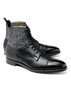 "These boot are a bit ""bold"" to me, but I still like the style. Peal & Co.® Leather and Tweed Boots"