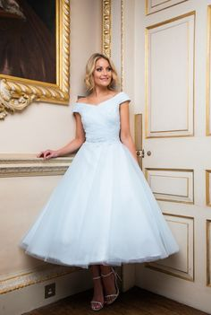 Beautiful bridal dresses, wedding gowns and plus size wedding dresses for your wedding from Special Day. Fashionable bridesmaid dresses and prom dresses. Beautiful Bridal Dresses, Simple Wedding Gowns, Blue Wedding Dresses, Wedding Dresses Plus Size, Wedding Ideas, Tea Length Bridesmaid Dresses, Blue Homecoming Dresses, Tea Length Wedding Dress, Tea Length Dresses