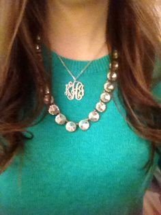 Need a monogram necklace!