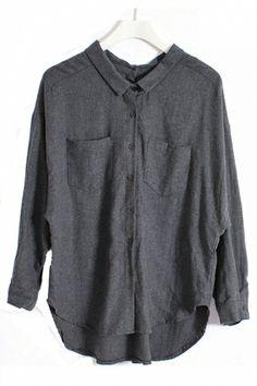 Loose Style Backwards Wearable Shirt
