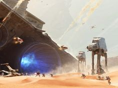 Buzzing: Star Wars: Battlefront teases the wreckage of The Battle of Jakku Star Wars Rpg, Star Trek, Imperial Walker, Starwars, Star Wars Vehicles, Star Wars Concept Art, London Films, Star Wars Images, Sci Fi Fantasy