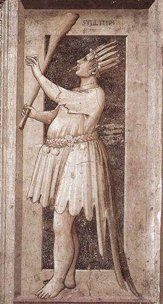 Foolishness, The Seven Vices, 1306, Cappella Scrovegni, Padua, Giotto di Bondone (1267-1337)