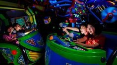 Disneyland rides: Buzz Lightyear Astro Blasters. Fire lasers to defeat Zurg in this shooting-gallery attraction that puts you in the center of a thrilling space battle.