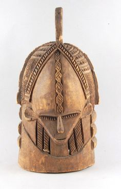 Africa | Sowei mask from Sierra Leone, more than likely from the Gola people on the Sierra Leone - Liberia boarder | Carved wood