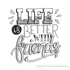 53 vind-ik-leuks, 4 reacties - Marijke Vanhommerig (@marijketekent) op Instagram: 'New friends, old friends, thank you for making my life more beautiful. . . . . Nieuwe vrienden,…'