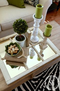 SPRING COFFEE TABLE VIGNETTE Spring colors Vignettes and Coffee
