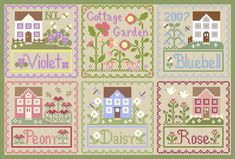 COUNTRY COTTAGE NEEDLEWORKS PERHAPS THESE HOUSES COULD BE MIXED IN? SOME OF THE FLOWERS ARE WELL DONE.