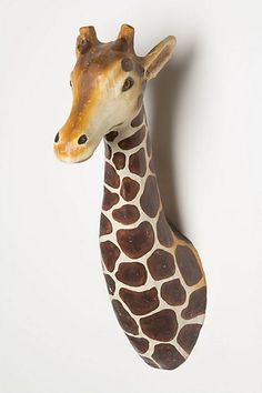 Giraffe! cute but puts the idea to make all sorts of animals out of paper mache
