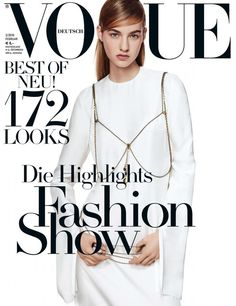 Maartje Verhoef pose for Vogue Germany magazine February 2016 Covers