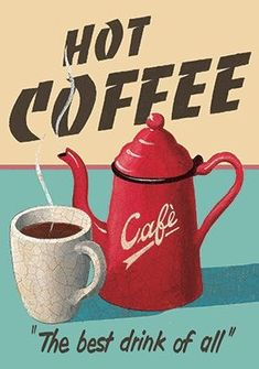 Where To Buy Retro Coffee Maker unlike Coffee Meets Bagel Kitchener I Love Coffee, My Coffee, Etiquette Vintage, Vintage Cafe, Coffee Signs, Advertising Signs, Coffee Cafe, Vintage Labels, Coffee Quotes