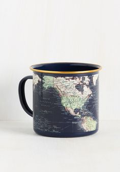 Locate and Percolate Mug - Multi, Print, Global, Graduation, Travel, Nifty Nerd, Gals, Guys, Under $20, Hostess, Blue, Work, Spring, Summer, Fall, Winter