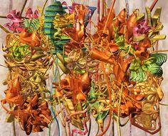 "Amazing art from Tokyo based artist, lecturer Ryota Matsumoto at http://www.ryotamatsumoto.com/ ""The Biometric Ephemera of Positronic Variation with Transient Bounds, mixed media, 80 x 100cm, © Ryota Matsumoto"