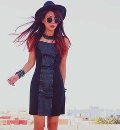 Shop this look on Kaleidoscope (dress, hat, necklace, sunglasses, bracelet)  http://kalei.do/WH2C5w4ukAXy7GoQ