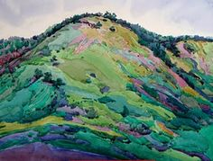 robin purcell california watercolors in the plein air tradition: San Luis Obispo Hill Paintings Watercolor Landscape, Landscape Art, Landscape Paintings, Local Painters, Caribbean Art, Great Works Of Art, Draw On Photos, California Art, Art For Art Sake
