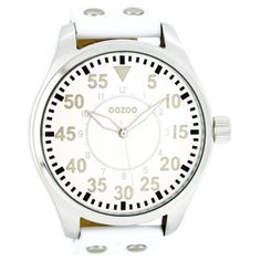 OOZOO Unisex δερμάτινο ρολόι OOZOO TIMEPIECES λευκό - Vres-To.gr Alarm Clock, Rolex Watches, Unisex, Accessories, Projection Alarm Clock, Alarm Clocks, Jewelry Accessories