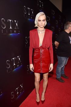 Actor Cara Delevingne at CinemaCon 2017 The State of the Industry: Past, Present and Future and STXfilms Presentation at The Colosseum at Caesars Palace during CinemaCon, the official convention of the National Association of Theatre Owners, on March 28, 2017 in Las Vegas, Nevada.