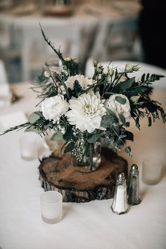 Marissa and Adam's 'Rustic Lush' Ski Resort Wedding by Bethany Small - Boho Weddings For the Boho Luxe Bride wedding centerpieces Wedding bouquet Rustic Wedding Centerpieces, Wedding Flower Arrangements, Wedding Bouquets, Jar Centerpieces, Centerpiece Ideas, Centerpiece Flowers, Rustic Wedding Table Decorations, Rustic Wedding Tables, Rustic Sunflower Centerpieces