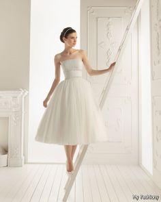 short tea wedding dresses - Google Search