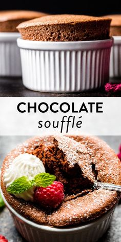 This post is heavily detailed to teach beginner bakers how to make fluffy, yet rich 7 ingredient chocolate soufflé. Recipe on sallysbakingaddiction.com #glutenfree #baking #dessertrecipes Easy Cake Recipes, Pie Recipes, Baking Recipes, Dessert Recipes, Chocolate Cake Recipe Easy, How To Make Chocolate, Chocolate Flavors, Fancy Desserts, No Bake Desserts