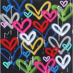 """Wild Hearts"" Original Artwork by Amber Goldhammer Cute Easy Drawings, Spray Paint Art, Mini Canvas Art, Indie Room, Mural Painting, Western Art, Heart Art, Wild Hearts, Contemporary Paintings"