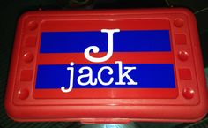 BACK TO SCHOOL  Personalized Pencil Box/ Art by MonogramCollection, $8.00