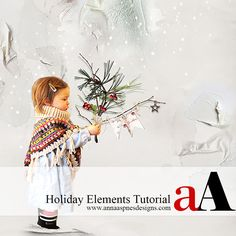 Creative Team Member,Fiona,shares a Holiday Elements tutorial conducted in Adobe Photoshop.  Note that this tutorial can also be completed in Adobe Photoshop Elements.    In this tutorial I have used a variety ofElements from the   store to create the