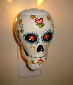 Sugar Skull Wax Warmer And Night Lite Sugar Skulls Day of the Dead