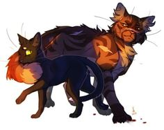 Ravenpaw and Tigerclaw by POSELENETS
