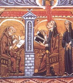 Hildegard von Bingen, with Volmar and Jutta