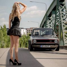 Most people just don't understand. It's more than a car🚗 It's a lifestyle. It's a release. Sexy Cars, Hot Cars, Car And Girl Wallpaper, Vw Mk1, Pin Up, Golf 1, Gangsta Girl, N Girls, Bikini Fashion