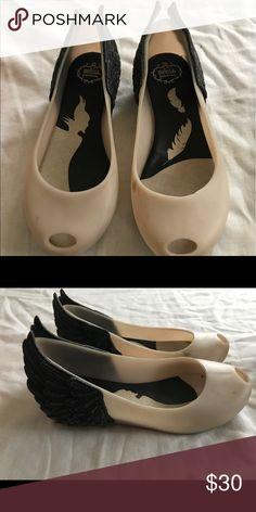 Mini Melissa Malificent Disney shoes size 11 Good condition a few scuffs Mini Melissa Shoes