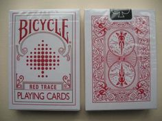 Rare Bicycle RED TRACE Deck Playing Cards: Amazon.co.uk: Sports & Outdoors
