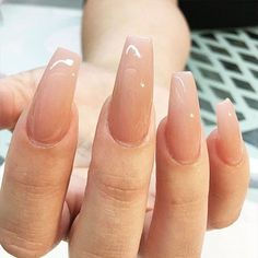 52 Beautiful Nail Art Designs & Ideas - Pretty ombré nude nails