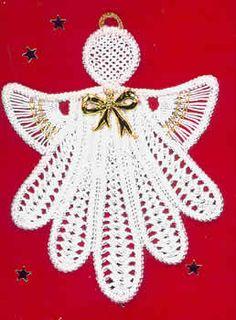 Crochet/Romanian Point Lace Angel pattern