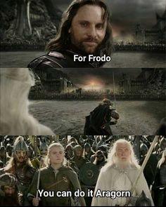 Aragorn Frodo Lord of the Rings lotr meme Hobbit Funny, O Hobbit, Legolas Funny, Movie Memes, Funny Memes, Hilarious, Movie Tv, Jrr Tolkien, Into The West