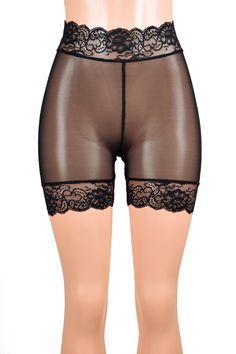 Beste Gif, Pretty Lingerie, Cosplay Outfits, Tight Leggings, Stretch Lace, Black Mesh, High Waisted Shorts, Women Lingerie, Nylons