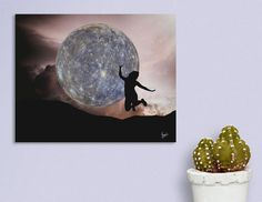 Discover «DANCING WITH THE MOON», Limited Edition Aluminum Print by Gloria  Sánchez - From 59€ - Curioos