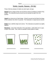 states of matter worksheet identify chemistry worksheets states of matter and free worksheets. Black Bedroom Furniture Sets. Home Design Ideas