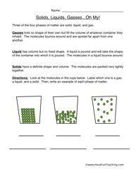 Worksheets 3 States Of Matter Worksheet 1000 images about three states of matter on pinterest worksheet 1