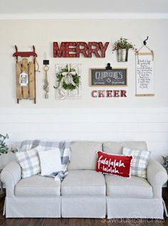 Holiday Home Tour  with Christmas Gallery Wall 2016
